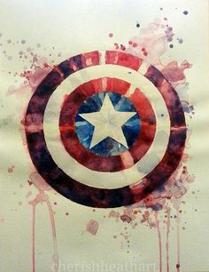 captain america watercolor - Google keresés