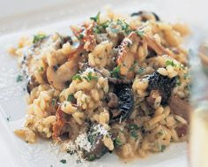 Mushroom Risotto. One of my favourite things to make, though I also add quinoa, and various wild mushrooms like Velvet Shank, Chanterelle, and Lobster