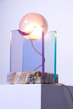 Element Lighting, Unique Lighting, Lighting Design, Crystal Resin, Contemporary Table Lamps, Design Blog, Design Design, Resin Table, Design Furniture