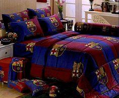 Barcelona FCB Bedding Comforter Blanket Sheet Barca Soccer Colcha TWIN FULL 3-5