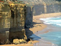 Just the other side of the Twelve Apostles in Australia you find this!  It gives you an idea of the grand scale of things as you see people at the bottom.  Sensational. www.travellingaustraliawithkids.com