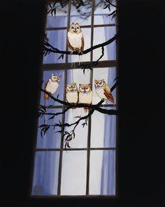 five owls by Sage Vaughn