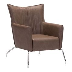 Ostend Occasional Chair Saddle Brown Zuo Modern
