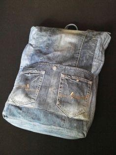 Купить Джинсовый рюкзак трансформер - рюкзак, Трансформер, рюкзак городской, рюкзак для путешествий, объемный, путешествие