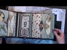 here is my first page tutorial of my mini album graphic 45 birdsong mirabelle style 'the techniques in this series are adapted and inspired by ,, Memories by. Mini Albums Scrap, Mini Scrapbook Albums, Papel Scrapbook, Graphic 45, Book Libros, Santoro London, Mini Album Tutorial, Mini Photo, Album Book