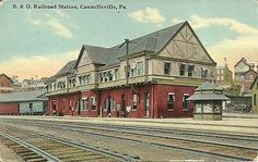 Postcard B O Railroad Station Connellsville PA | eBay  station no longer exists