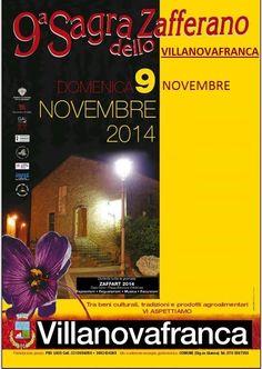 9° SAGRA DELLO ZAFFERANO – VILLANOVAFRANCA – DOMENICA 9 NOVEMBRE 2014