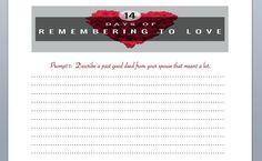 14 days of love printout screenshot