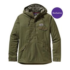 I want this before it gets too much colder! Patagonia Menu2019s Reclaimed Wool Snap-T Pullover - Fatigue Green FTGN