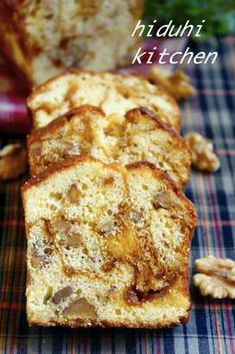 Caramel and walnut pound cake Sweets Recipes, Wine Recipes, Don Perignon, Pound Cake Recipes, Japanese Sweets, Sweet Desserts, Mini Cakes, Yummy Cakes, Love Food
