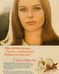 Luscious, flawless, creamy-faced Clairol Make Up 1966