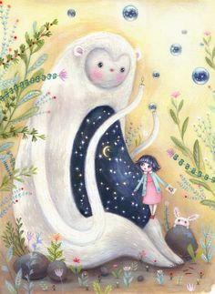:: Sweet Illustrated Storytime :: Illustration by Lisa Evans Childrens Hospital, Childrens Books, Lisa Evans, Evans Art, Cute Monsters, Pop Surrealism, Cute Illustration, Cute Art, Art For Kids