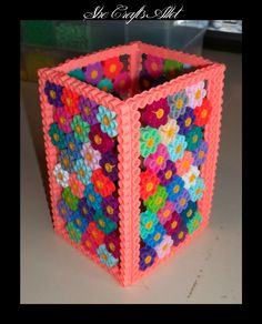 Perler Bead Pattern Pencil Holder She Crafts Allot