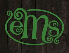 Custom Monogram, Green Beans, SVG, DXF, Vector File, Perfect for Silhouette, SCAL, Make the Cut or Any Similar Software or Vinyl Plotter