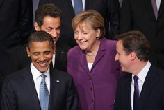 "angela merkel obama - ""His name's Farrage.make it look like an accident ! British Prime Ministers, French President, David Cameron, World Leaders, Us Presidents, Ursula, Barack Obama, Lisbon, Amazing Women"