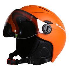 MOON Half-covered CE Certification Ski Helmet Integrally-molded Outdoor Sports Goggles Skiing Helmet Snowboard Helmet