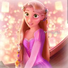 That hair tho! Disney Rapunzel, Walt Disney Pixar, Rapunzel And Flynn, Princess Rapunzel, Disney Girls, Rapunzel Tangled Movie, Punk Disney, Disney Movies, Disney Characters