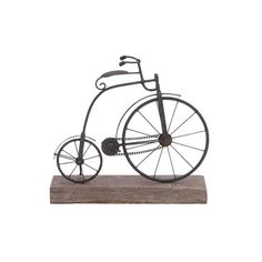 Decmode Eclectic 14 Inch Iron and Fir Wood Penny Farthing Bicycle Decor, Black, Multicolor Bicycle Decor, Retro Bicycle, Bicycle Design, Vintage Bicycles, Bicycle Clock, Old Bicycle, Bicycle Art, Bed Bath & Beyond, Decorative Objects