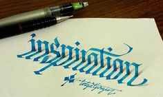 Pinterest Pin - A graphic designer created this collection of 3D calligraphy illusions.