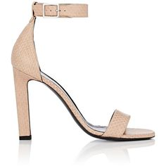 Saint Laurent Women's Grace Sandals ($995) ❤ liked on Polyvore featuring shoes, sandals, nude, polish shoes, leather sole shoes, open toe high heel sandals, nude high heel sandals and nude sandals