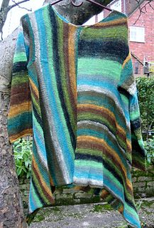 Y-874 Kureyon Sock Yarn Pullover by Junko Isaji (伊佐治 順子)  Published in Noro: The World of Nature - Volume 28