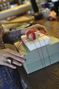 stacking presents + wrapping