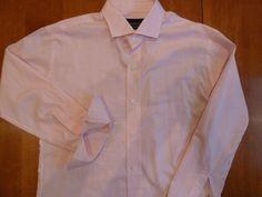 LEDBURY Fine Pink White Graphic Checks Cotton Slim 17 - 43 DAPPER Dress Shirt  #Ledbury