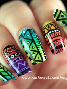 Tribal nail art | Look What I'm Wearing