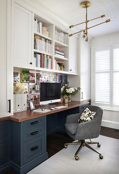 40 Modern Home Office Design Ideas For Small Apartment - Office Desk - Ideas of Office Desk #OfficeDesk - 40 Modern Home Office Design Ideas For Small Apartment #homeoffice #homeofficeideas #smallapartments #apartmentdecor