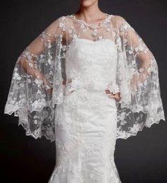 Nuptiale châle écharpe châle de mariée Shrug nuptiale par ctroum