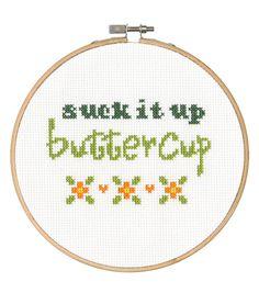Say It! in cross stitch-Buttercup