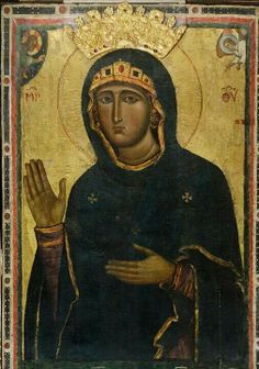 Madonna Avvocata (Advocata), fine XIII secolo, Chiesa di Santa Maria Maggiore, Tivoli, Roma