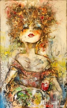 This work of this Dutch artist Guy Olivier I find sexy and gives a good feeling as it expresses live in colour.....