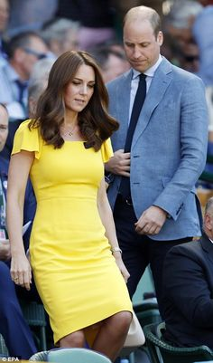 Kate and William arrive at Wimbledon ahead of men's final | Daily Mail Online