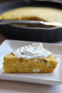 Roasted Jalapeno and Goat Cheese Cornbread || HeathersDish.com