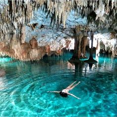 Exploring caves in Mexico. Photo courtesy of travelingtheworld on Instagram.