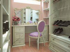 Дизайн гардеробной комнаты в стиле Прованс — «Фобос Мебель»