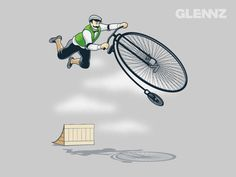 A gentleman and extreme penny farthing