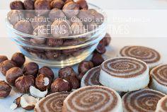 hazelnut, chocolate, cookies, pinwheels