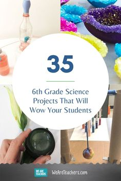35 Grade Science Projects That Will Wow Your Students. Engage your grade science students with projects like cloning cabbage, dissecting owl pellets, engineering a biodome, and more. Science Student, Middle School Science, Physical Science, Science Classroom, Science Education, Teaching Science, Waldorf Education, School Classroom, Physical Education