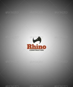 Rhino Construction Company Logo Template by prowebmedia Rhino construction company logo template. The rhino is an appropriate symbol for a construction company because it reflects power Bauunternehmen Logo, Logo Branding, Logos, Logo Design Template, Logo Templates, Rhino Logo, Construction Company Logo, Tiger Logo, Finance Logo