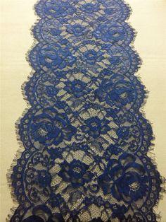 """20ft navy Table runner 11""""  lace table runner wedding  table runners navy lace runner 14110702"""