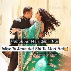 Mention Someone 👩❤️👨 . Follow @hasuwriter For Shayari . . . #beingsalmankhan #salmankhan #salkat #katrinakaif #shayari #sayri #hasuwriter Muslim Love Quotes, Cute Love Quotes, Love Life, My Love, Diy Cutting Board, Bae Quotes, Romantic Poetry, Love Wallpaper, Jokes