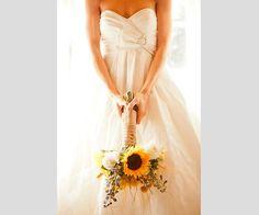 Girasoles en tu ramo de novia