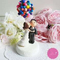 Custom Cake Topper UP inspired :) @Maria Canavello Mrasek Margarita thought you might like this!