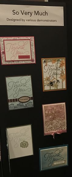 """The """"So Very Much"""" stamp set is from the Stampin' Up! 2017 Sale-a-bration Catalogue.  This display was made by various Canadian demonstrators and on display at the Canadian Stampin' Up! Business Conference in January 2017."""