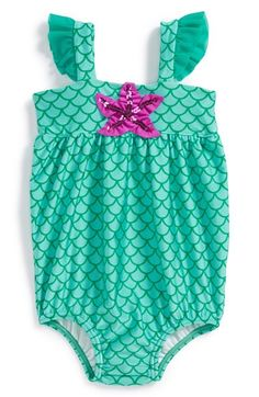 Love U Lots 'Mermaid' One-Piece Bubble Swimsuit (Baby Girls) available at #Nordstrom