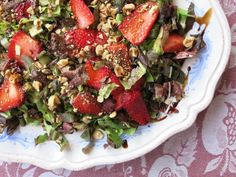 Radicchio + Strawberry Salad - Elizabeth Minchilli in Rome