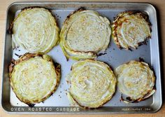 Roast #Cabbage slices in the oven, oven roasted cabbage steaks, Roasted cabbage slices, roasted cabbage, baked cabbage steaks, how to make cabbage steaks, garlic #roasted cabbage steaks, grilled cabbage, low carb cabbage recipes, low carb recipes,