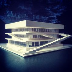Arndt Schlaudraff creates intricate Lego models of Brutalist and Modernist buildings, and photographs the results for his Instagram account lego_tonic